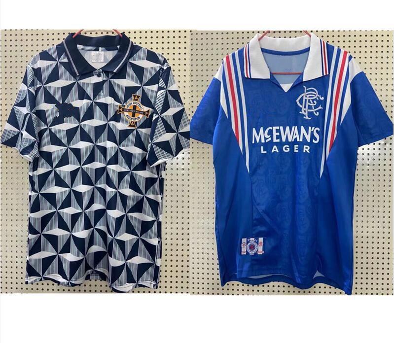 1996 97 غلاسكو رينجرز ريترو كرة القدم جيرسي 92 93 أيرلندا الشمالية البيت الأزرق # 8 غاسكوين رقم 11 لاودروب # 9 MCCOIST # 3 ALBERTZ قمصان كرة القدم