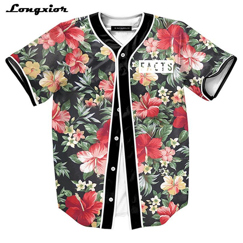 Mts130 Botones para hombre Camisa Homme 3d Camisetas de Streetwear Camisetas Hip Hop Bel Air 23 - Príncipe fresco por encargo Jersey de béisbol J190612