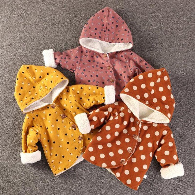 Baby Boy Девушки куртки пальто детей Верхняя одежда зима с капюшоном Пальто Теплая куртка младенца Дети пальто детская Толстые Девушки одежды