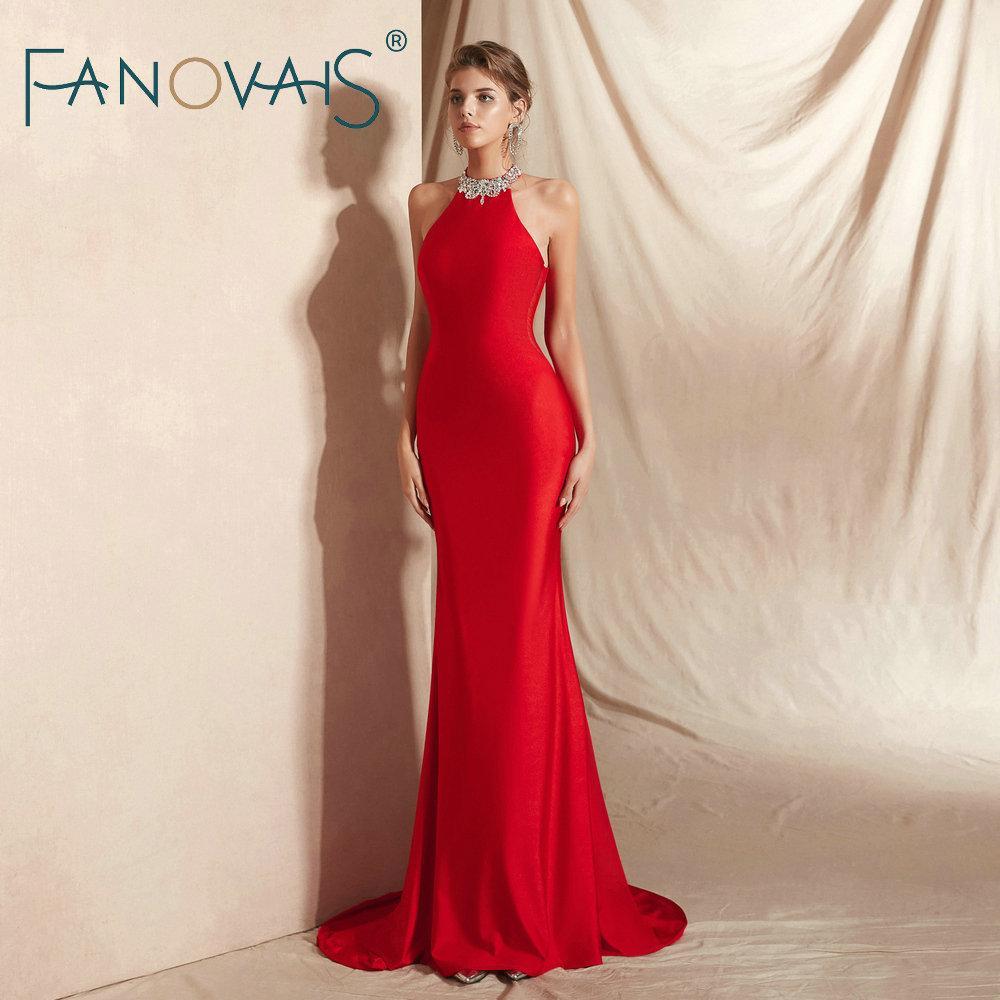 großhandel rote abendkleider lange elegante abendkleid 2018 vestidos de  fiesta largos kleid party plus größe avondjurk robe de soiree longue von