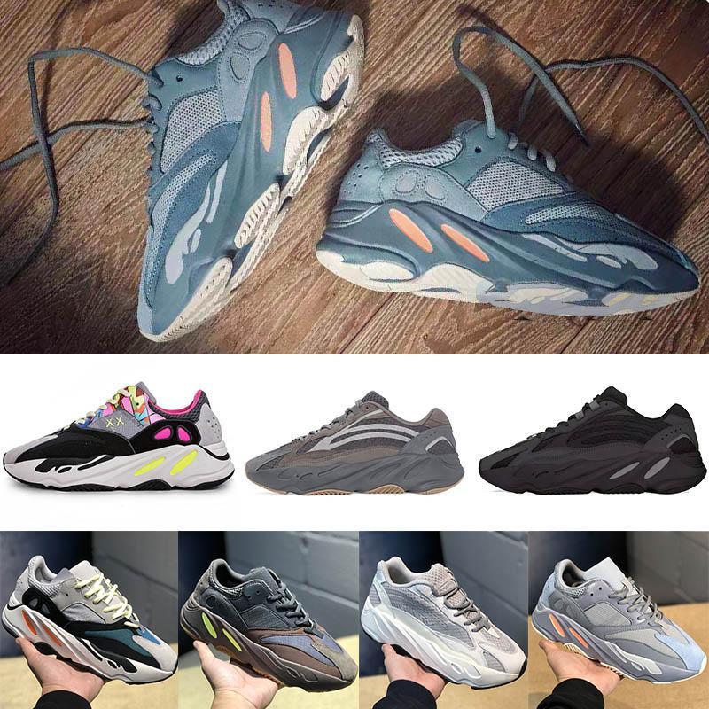 2019 Yeni Ucuz Vanta Geode Leylak koşu ayakkabıları en kaliteli dalga koşucu Kanye West Marka tasarımcı spor ayakkabıları eğitmenler mens US5-11.5