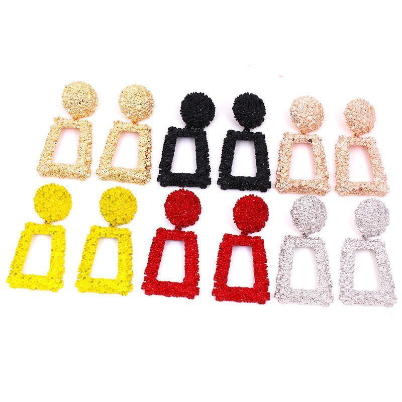 드롭 매달려 여성을위한 귀걸이 소녀 보헤미안 쥬얼리 캔디 컬러 크리 에이 티브 기하학적 귀걸이 패션 액세서리 Kimter-M015F