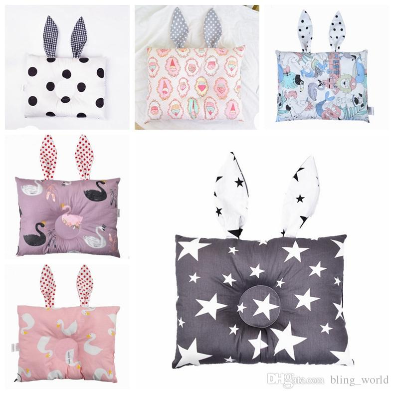 Baby Pillows Rabbit Ears Infant Cushion Cartoon Bunny Ear Kids Pad Baby Stereotypes Pillow Nursery Bedding 23 Designs YW2682