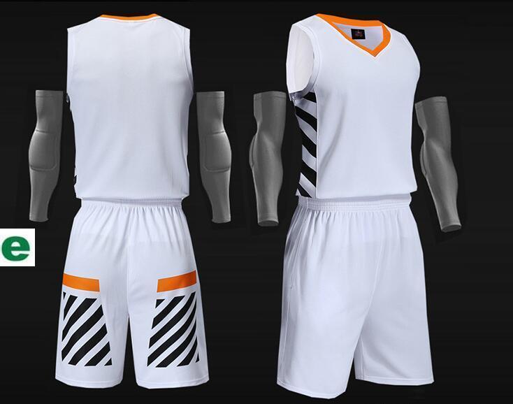 2019 Новых трикотажный Blank баскетбольных напечатан логотип размер Mens S-XXL дешевая цена быстро груз хорошего качества холодного белый CWT0012r