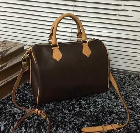 2019 yüksek kaliteli okside ınek derisi speedy 30 cm sıcak satmak Moda Çanta kadın çantası omuz çantaları Bayan Kılıf çanta çanta 3 renk M40391