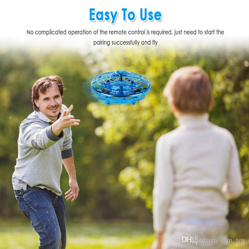 RC UFO anti-colisão de helicóptero Fly brinquedos Magia UFO Mão Bola Aircraft Sensing Mini Indução Drone UFO Toy Crianças elétrica