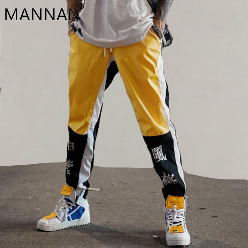 Mannan Hip-hop pantaloni da uomo nuovo modo cinese la stampa carattere Harem Streetwear Uomo Casual Pantaloni Pantaloni Pantaloni felpa CJ191128