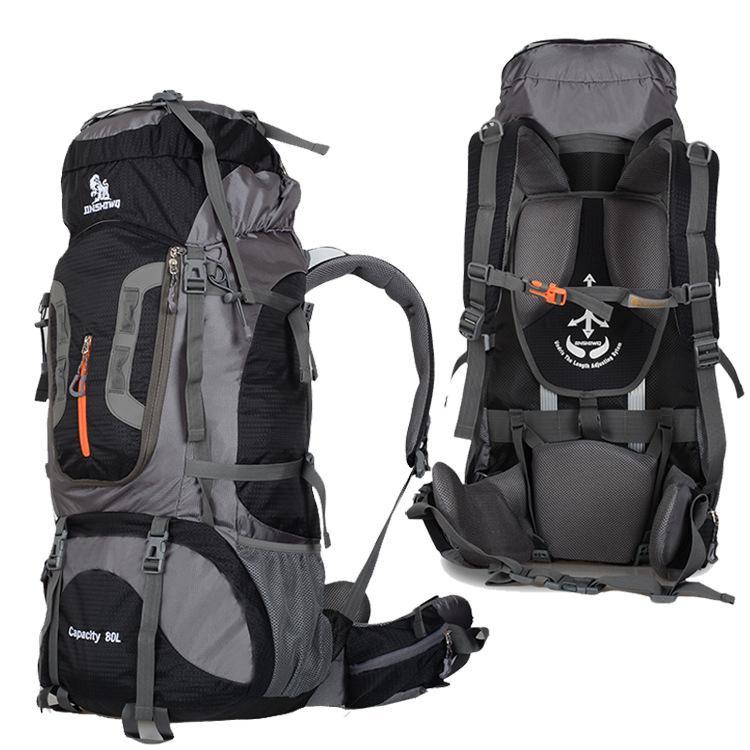 القدرات الجديدة التخييم المشي لمسافات طويلة على الظهر الكبيرة 80L في الهواء الطلق حقائب الكتف حقيبة الظهر Superlight الرياضة حقيبة السفر سبائك الألومنيوم دعم 1.65kg
