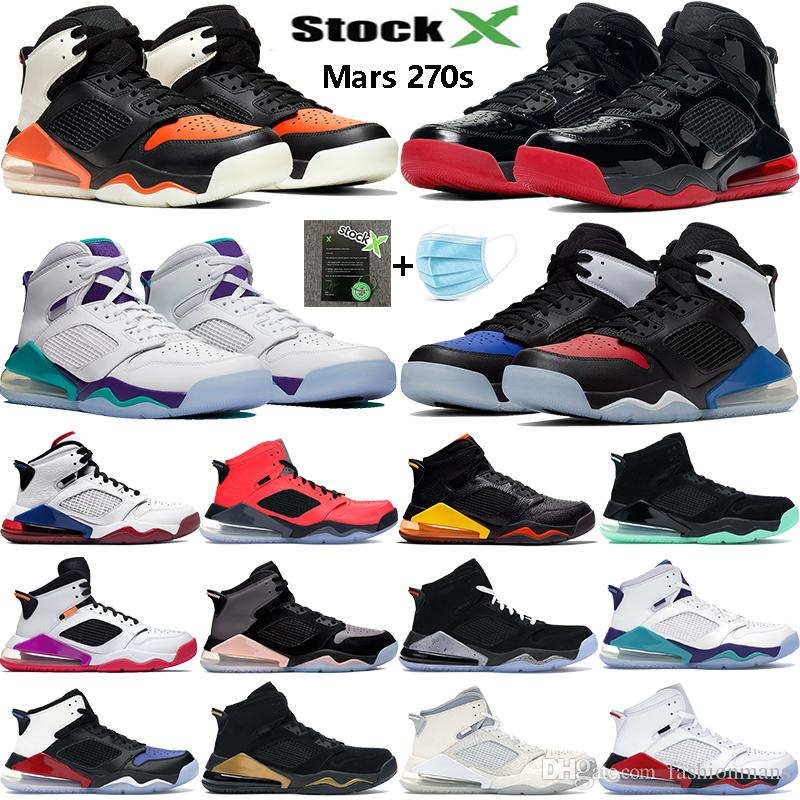 2020 New Jumpman mars 270S reflective basketball shoes Paris INFRARED 23 shattered backbord Top 3 black gold mens Sneakers women trainers