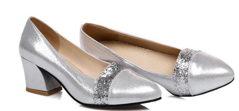 2019 Chaussures femmes au printemps et à l'automne avec nouveau style talon haut talon gros bout pointu @ 2073