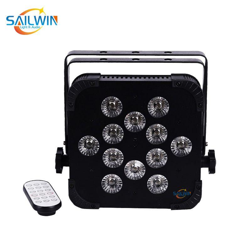 UK STOK 12x18W RGBWA + UV 6in1 2.4Ghz Kablosuz LED Düz Par Işık DJ Sahne Işık Projektör