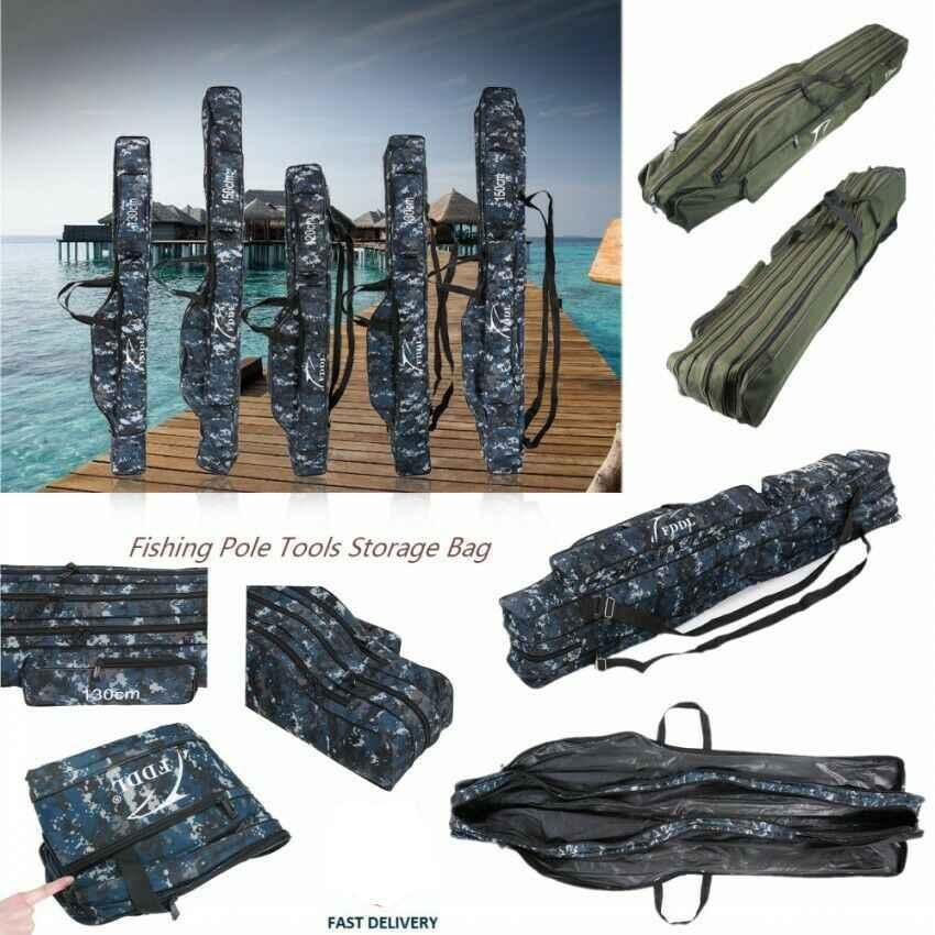 Rod Holdall Carp Fishing Bags Folding Padded Tackle Reel Storage Case