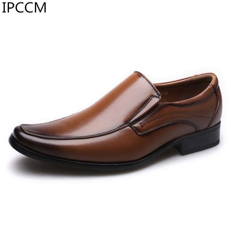 2019 Sonbahar Yeni Moda Basit Manuel Renk Rahat Kare Kafa Japon Erkek İş Elbise Ayakkabı Feet Of Set Wipe