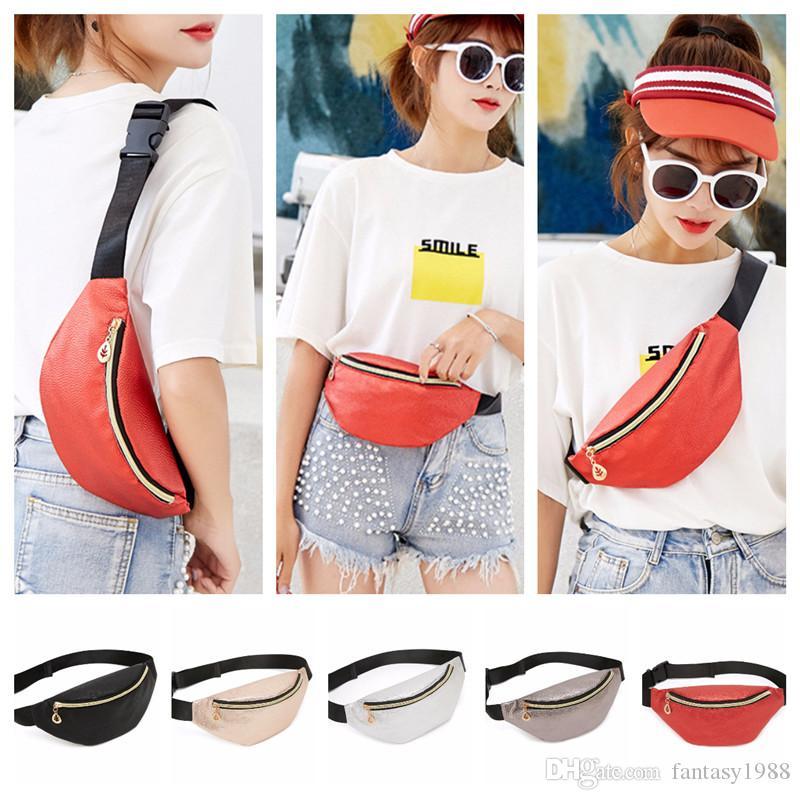 PU Womens Fanny Pack Waistpacks Bolsas De Ombro Bolsas De Bolso Telefone Bolsas De Peito Senhoras Cintura Sacos Viagem Running Handbags 5 Cores
