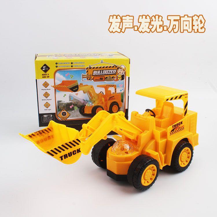 Universal electric bulldozer toy model electric voice flash excavator children's toy wholesale.