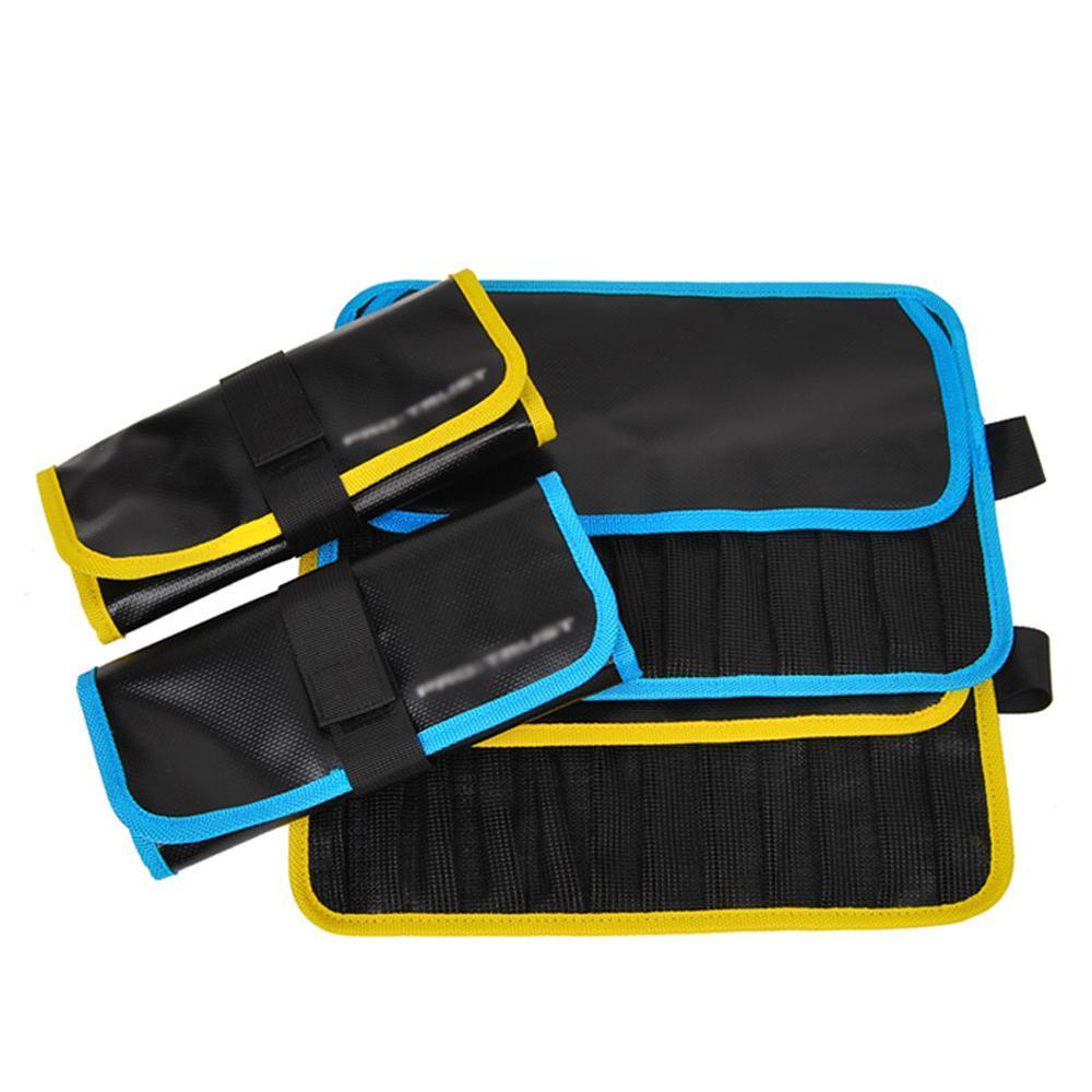 Al por mayor del mar Pesca señuelo suave de la bolsa de Jigging plantilla bolsas de lona impermeable Lure accesorios para herramientas bolsa de 33x22cm