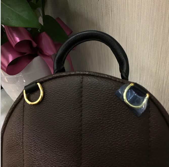 Mini Bag Donna bambini in età scolare del progettista di alta qualità del progettista cuoio dell'unità di elaborazione borse zaino Famoso Springs Palm Lady Bag borsa da viaggio