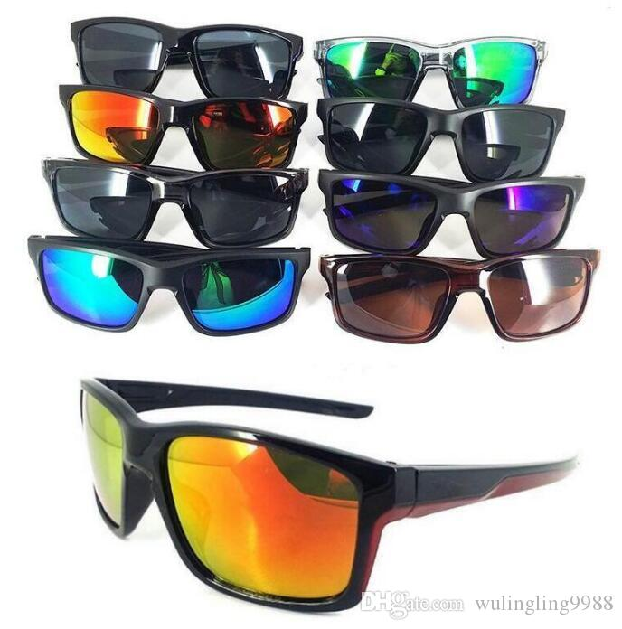 مصمم النظارات المبهرة الصيف الدراجات الرياضية أزياء النظارات الشمسية النساء الرجال عاكس طلاء الشاطئ ركوب الدراجات النظارات 8 ألوان