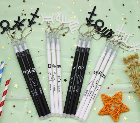 60pcs inchiostro gel kawaii penna cancellabile penna ciondolo costellazione per la scuola forniture per ufficio coreano studenti di cancelleria carino caneta