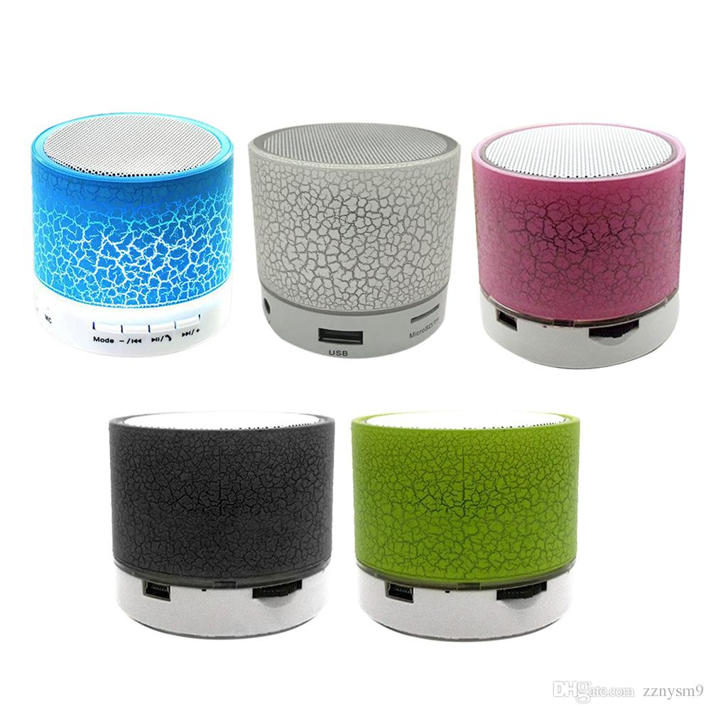 Portable Mini Bluetooth Speakers Wireless Hands Free Led Speaker Tf Usb Fm Sound Music For iPhone X Samsung Mobile Phone Bluetooth Device A7
