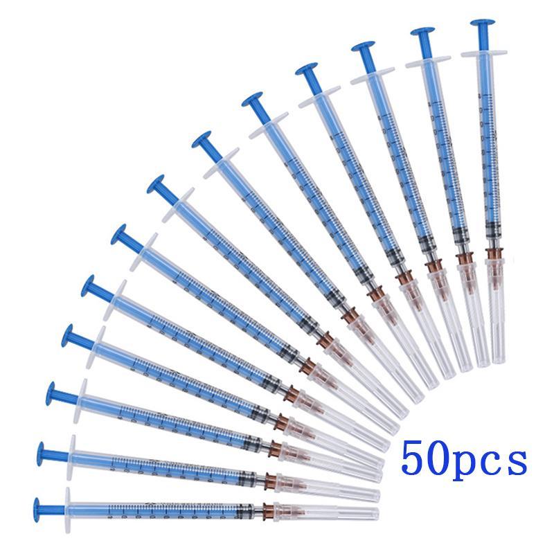 Plástico descartável estéril seringa de 1 ml de uma seringa com agulhas de 1cc Injector para o laboratório e industrial Dispensing Adhesives cola solda Cole