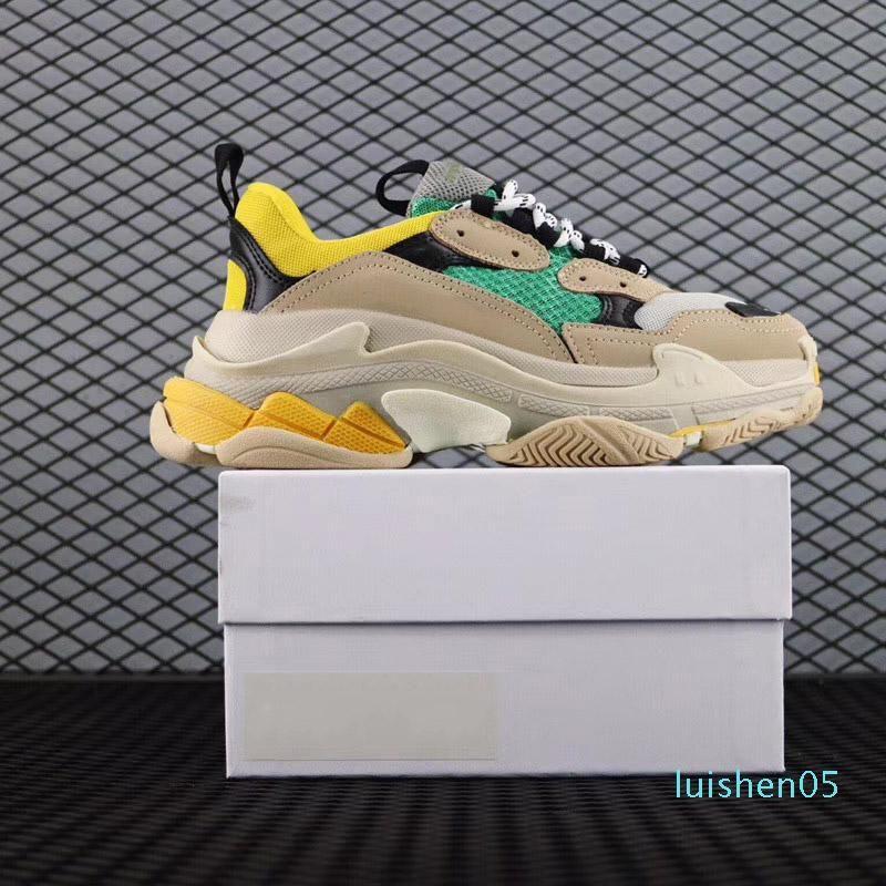 Zapatos papá París Triple-S Caminar zapatos de lujo Femme Triple S 17FW las zapatillas de deporte de diseño para mujeres de los hombres de la vendimia viejo abuelo Trainer AL05