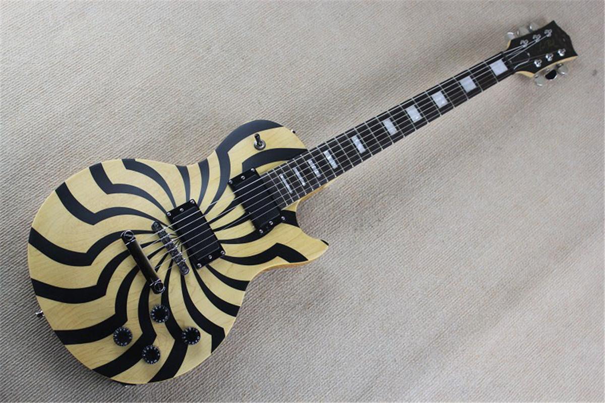 Free Shipping Factory custom shop New high quality LP Custom EMG pickup Zakk Wylde electric guitar