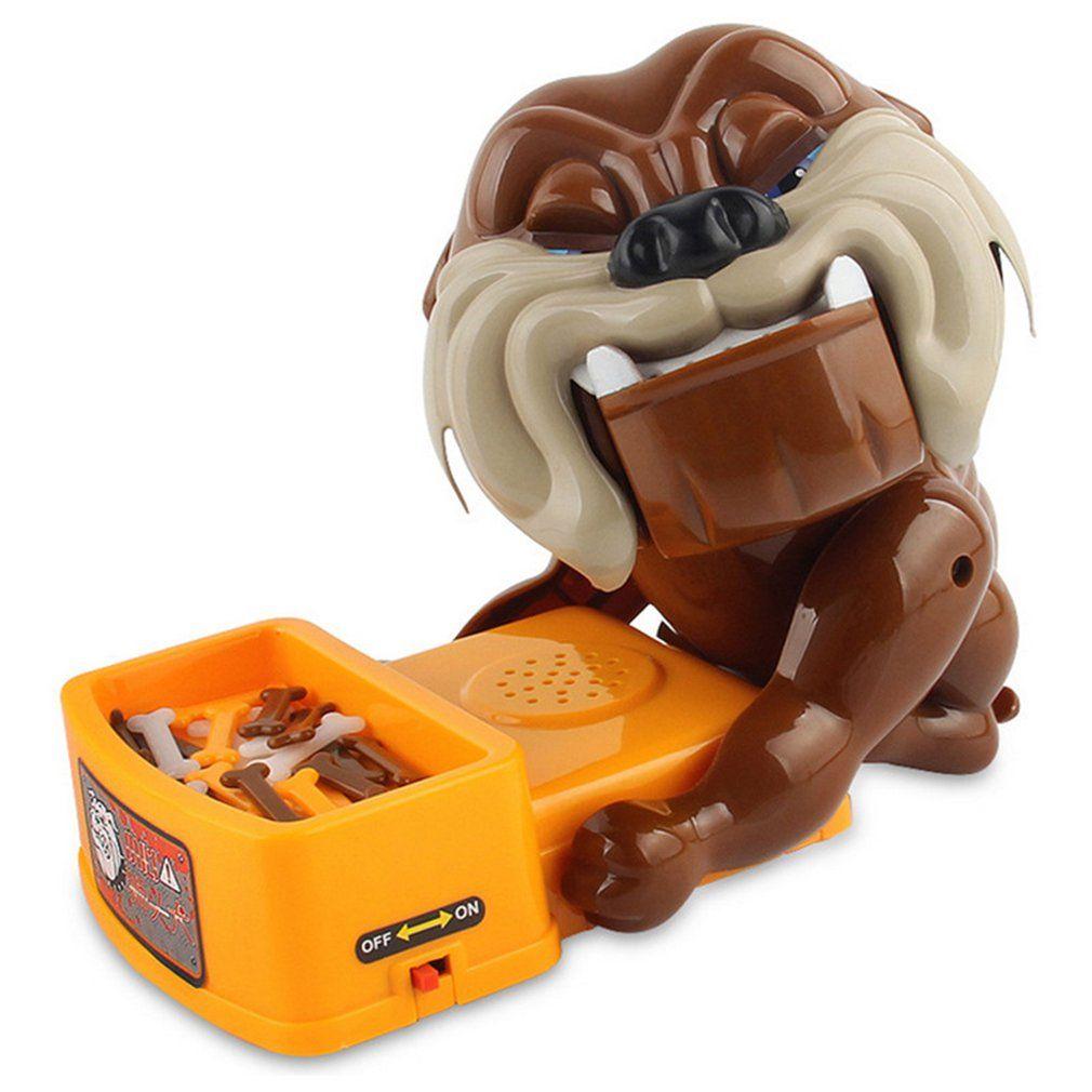 Yaratıcı Tricky Yenilik oyuncaklar kaplan köpek ısırma / masa oyunları büyük gri kurt ısırma / oyuncak ısırma kötü Dikkat köpek