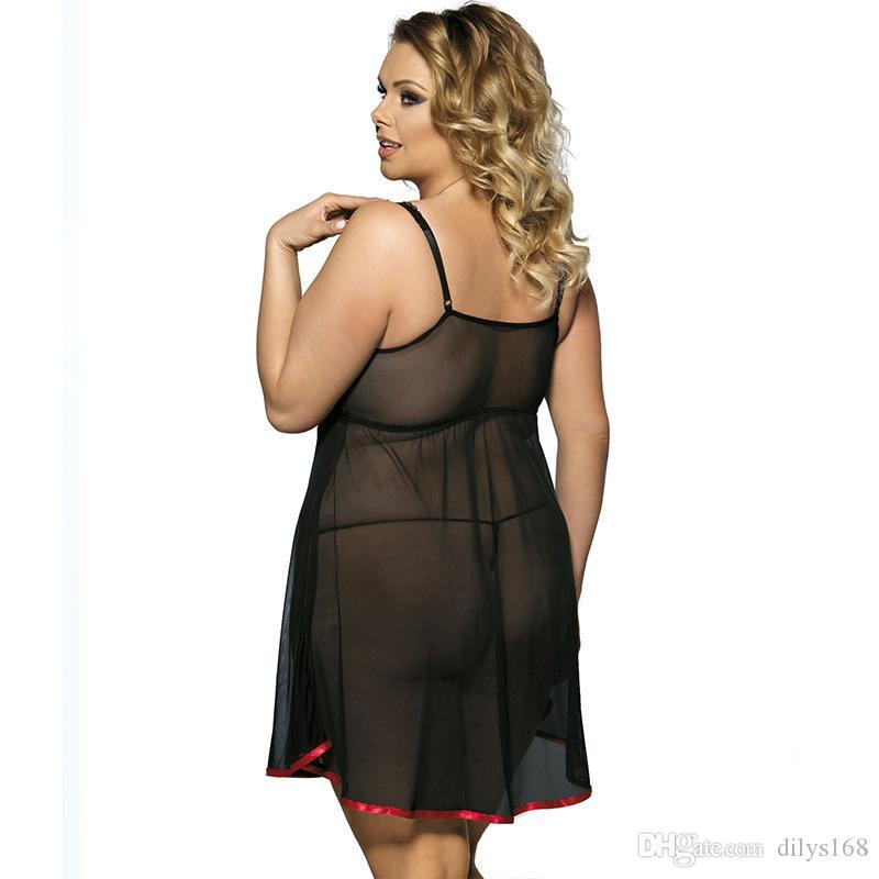 donna biancheria di lusso Sexy Lingerie sexe biancheria intima delle donne del progettista dei underwears delle donne Lace 5XL Femme pigiameria pigiama set Formato più