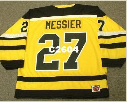 Men # 27 Mark Messier CincinnatiStingers 1978 WHA RETRO Heim Hockey Jersey oder benutzerdefinierten beliebigen Namen oder Nummer Retro Jersey