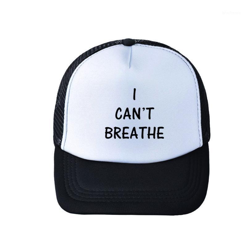 Beyzbol şapkası nefes alamıyorum amerikan protesto beyaz siyah mektup baskı şapka ayarlanabilir top kapaklar1 kapaklar