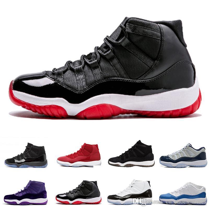 Оптовая дешевые 11 Prom Night Gym Red Полночь Navy Black Stingray Разводят Concord Space Jam обувь 11s женщин людей Баскетбол Sneaker