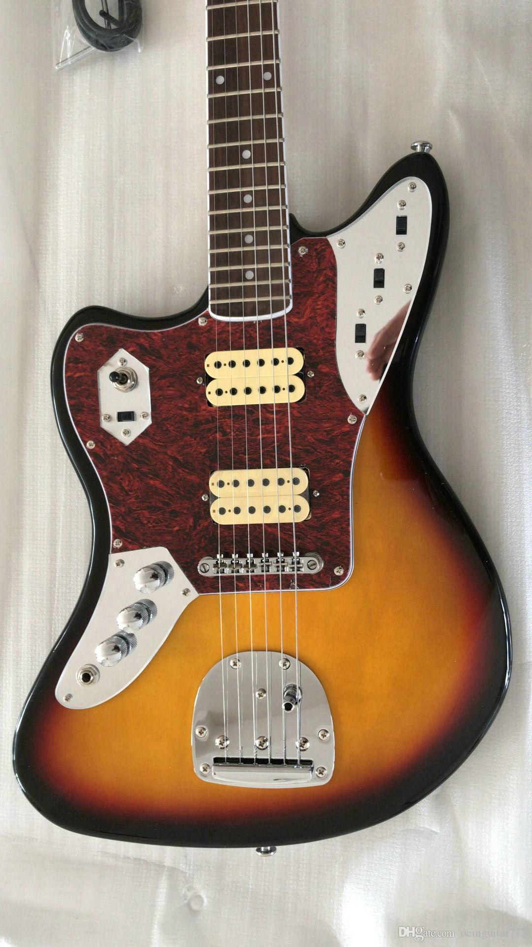 왼쪽 손으로 꿀은 일렉트릭 기타 로즈 우드 핑거 보드 높은 품질 도매 기타 버스트