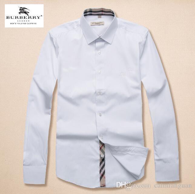 Marken-Männer Business Casual Shirt lange Hülse der Männer slim fit camisa masculina gestreift soziale männliche Shirts neue Art und Weise Hemd # 1571000