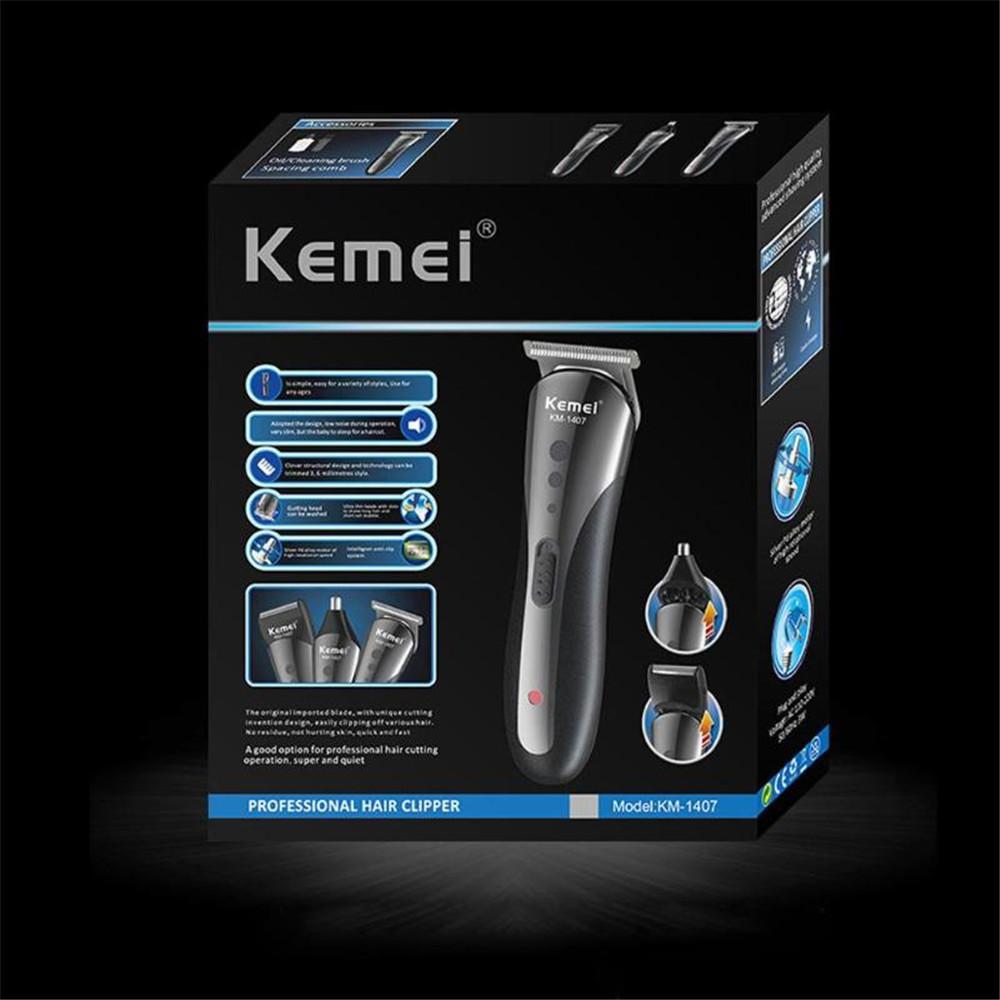 Kemei 1407 8 Dans 1 tondeuse multifonctions Tondeuse cheveux rechargeable professionnelle électrique barbe sqtrimmer nkewt