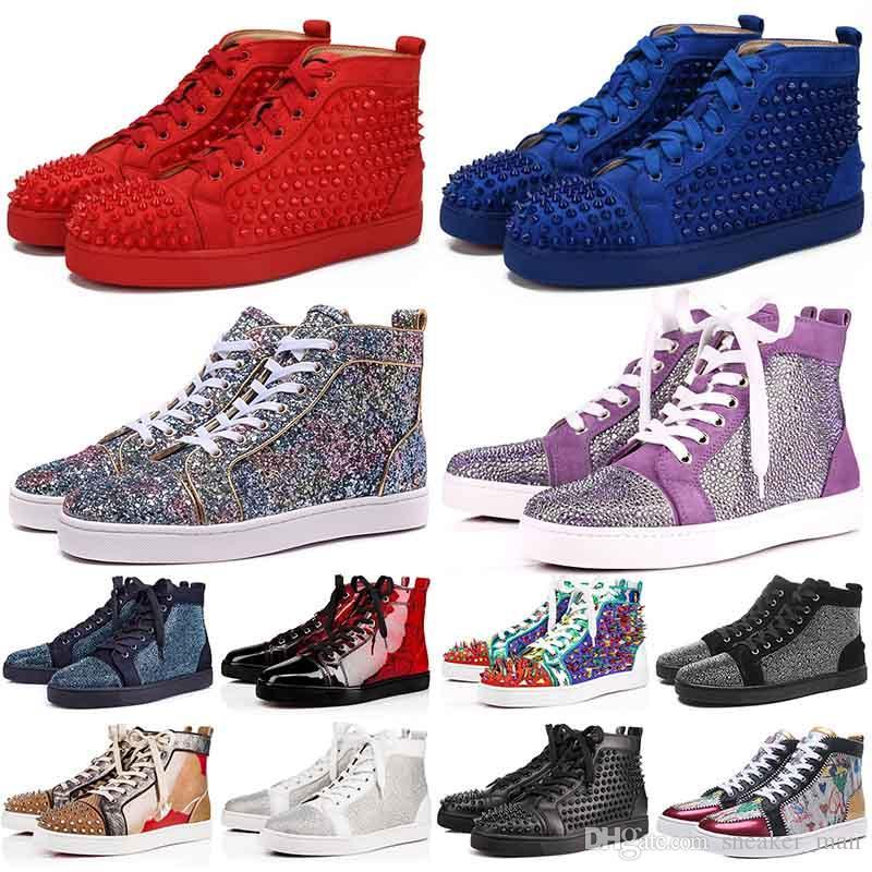 뜨거운 판매 새로운 남성 부츠 여성 하이 컷 상단 빨간색 하의에게 캐주얼 신발 Traderjoes 패션 레이스 업 스포츠 운동화 스웨이드