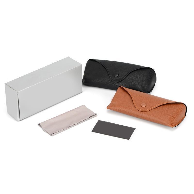 도매 방수 선글라스 상자 태양 안경 케이스 블랙 브라운 소프트 레트로 가죽 선글라스 케이스에 대한 청소 천 안경 안경 파우치