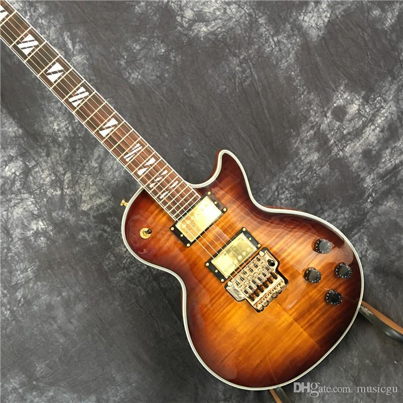 chitarra del LP personalizzato chitarra elettrica, colori a scelta, buon modello tigre, con vibrato. SME libera il trasporto