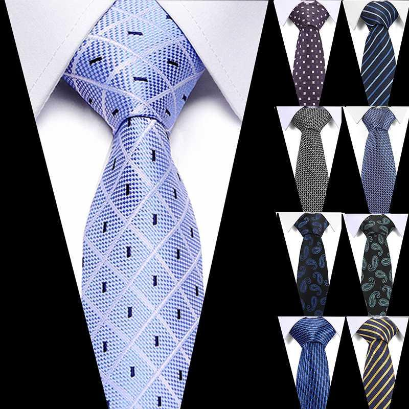 Luxury Men's ties 7.5cm 100% Silk Stripe Necktie Business Formal Tie Gift Gravata Wedding Party Dress Accessories Gift For Men