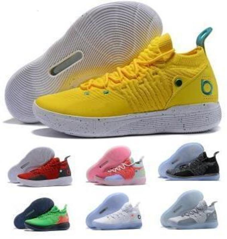Basketball Shoes Kd 11 11s Sneakers 2020 Mens Green Multi Still Eybl Bhm Kevin Durant Xi Oero Foam Man Sport Trainer Zapatilla Shoes