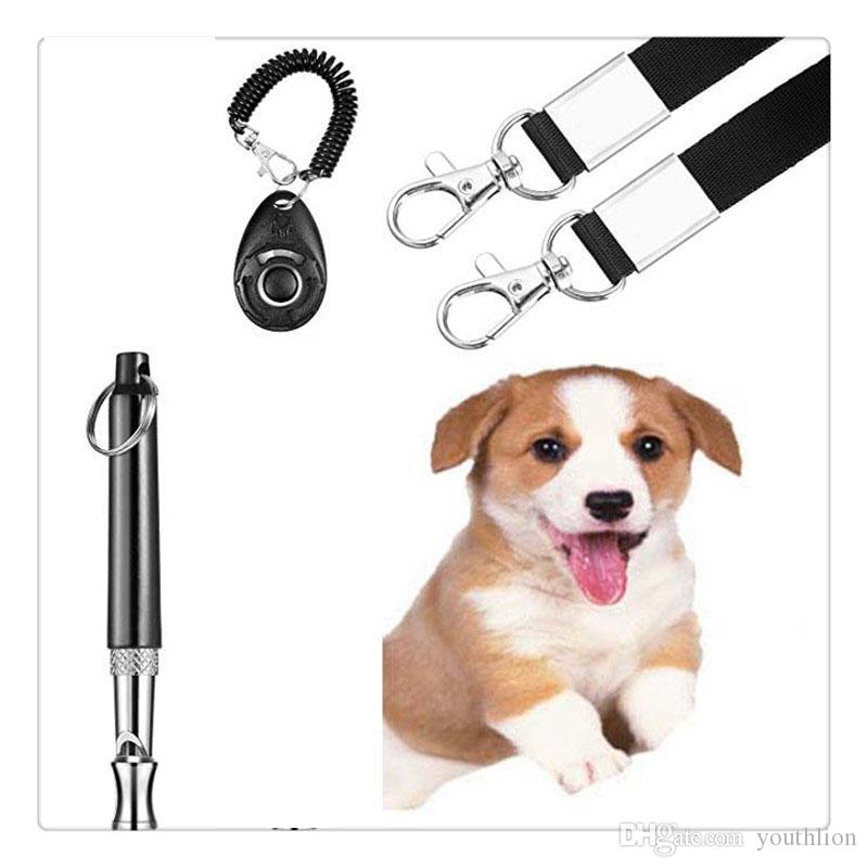 Dog Training Whistle Clicker Training Combination Stops Howling Pitch Ultrasound Dog Advanced Adjustable Whistle Pet Training