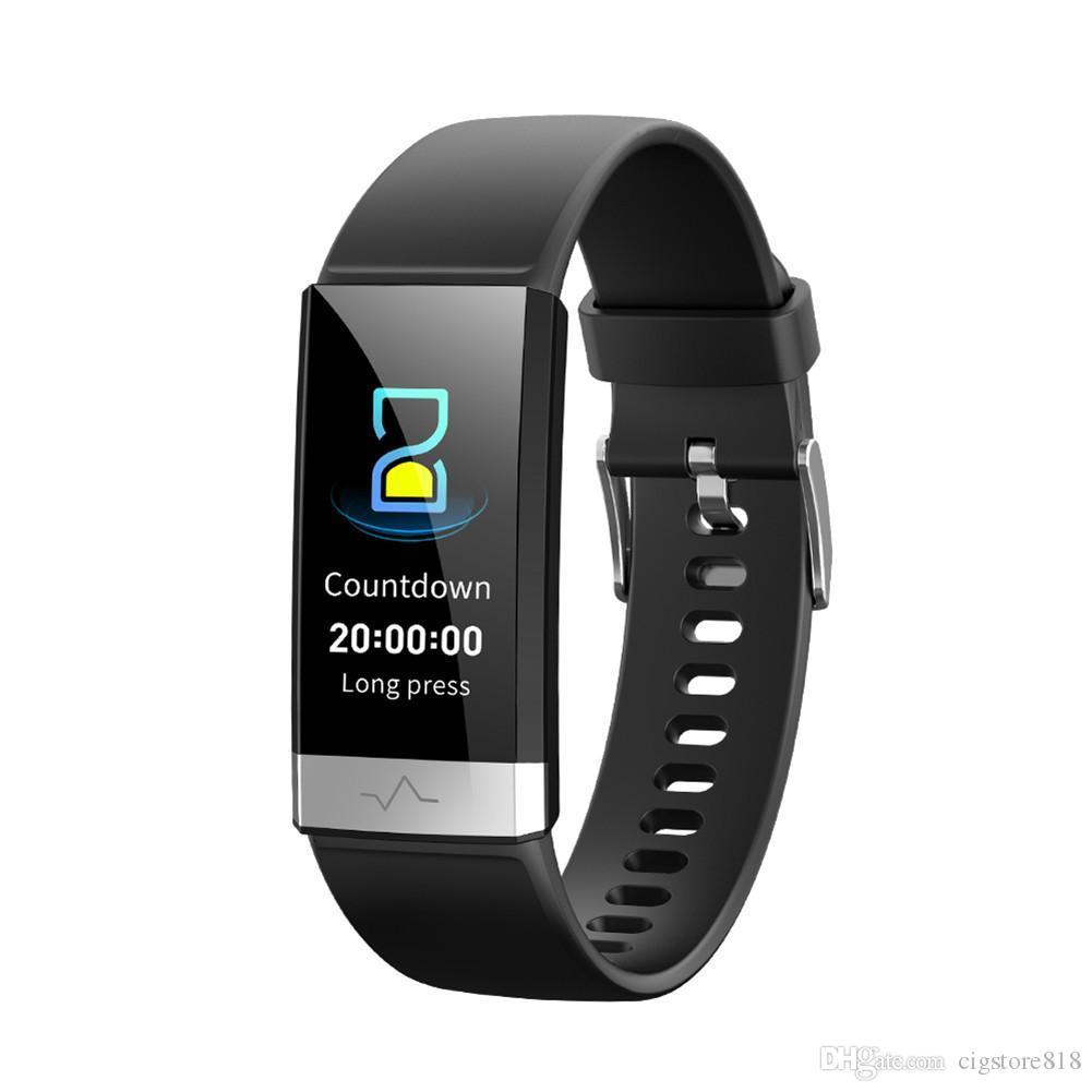 V19 Smart-Armband Herzfrequenz-Blutdruck-Sauerstoff-Schlaf-Überwachung Bluetooth Fitness Tracker Smart Watch für IOS Android Phone