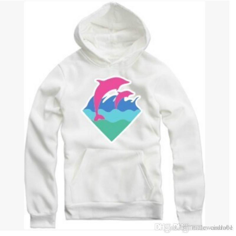 Новая осень зима мужская мода одежда розовый дельфин толстовки свитер для мужчин хип-хоп спортивная одежда оптом M-4XL