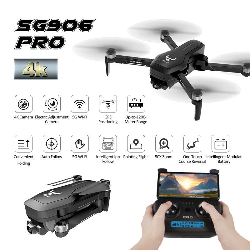 في الأوراق المالية ZLRC SG906 Pro 2.4 G واي فاي FPV مع 4K HD كاميرا 2-محور انحراف تدفق البصرية المواقع فرش RC طائرات بدون طيار Quadcopter T200420