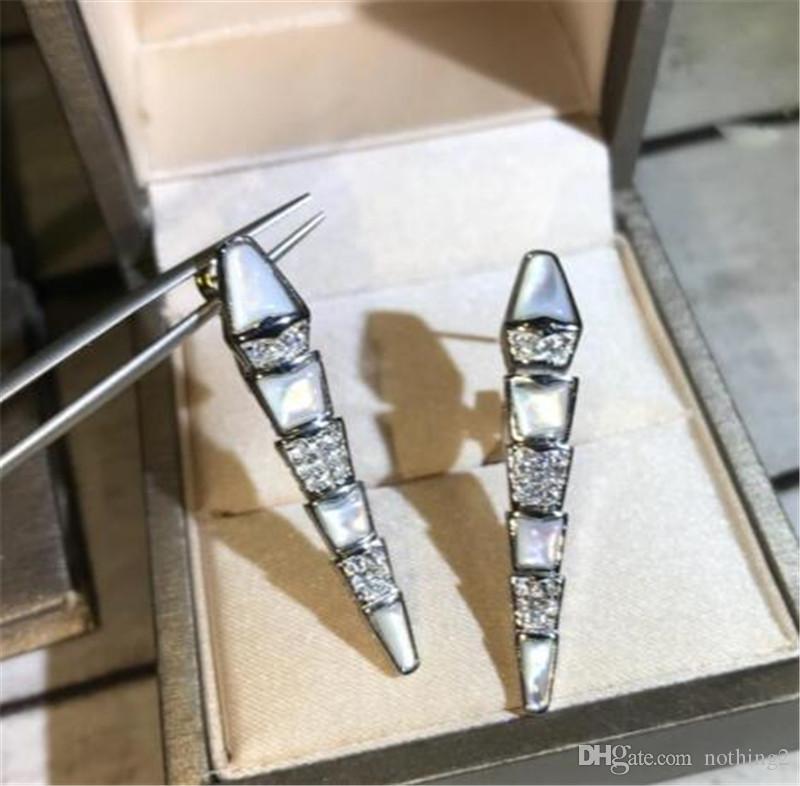 Schmuck Ohrringe für Frauen übertriebenen Partei Platin überzogenen Schlange-Ohrringe für Frauen-freies Verschiffens