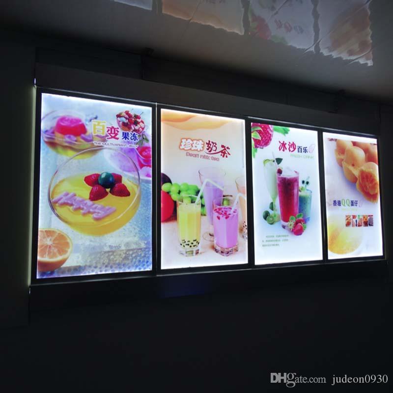 (3 graphismes / colonne) Planches de menu allumés muraux muraux, affichage du menu rétro-éclairé pour l'hôtel, Cafe Store