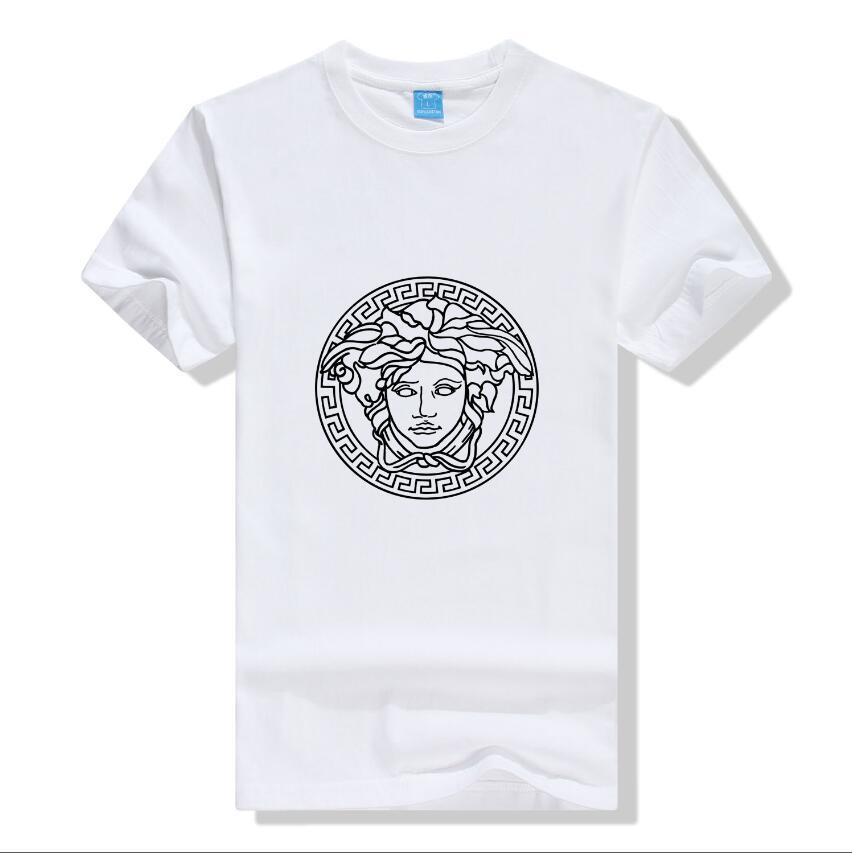 2020 nuove lettere stampano la camicia del mare a righe mens Q26 T-shirt striscia Europa magliette di modo T uomini camicia casual cotone Tee Top di alta qualità