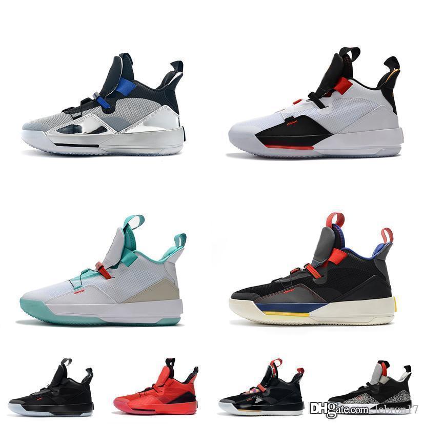 Мужская Jumpman XXXIII 33s ретро баскетбольная обувь для продажи J33 видимая утилита black out Future flight jade aj33 новые 33 кроссовки сапоги с коробкой
