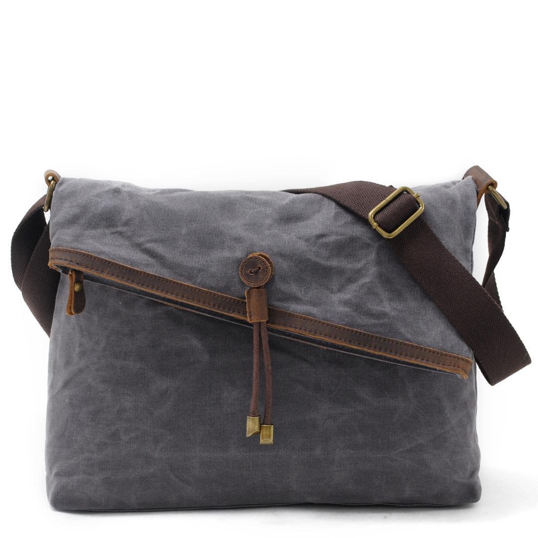 мужской холст сумки институт ветра восстановление древних способов батик Кожа одного плеча мешок Cowboy масло кожи сумки посыльного