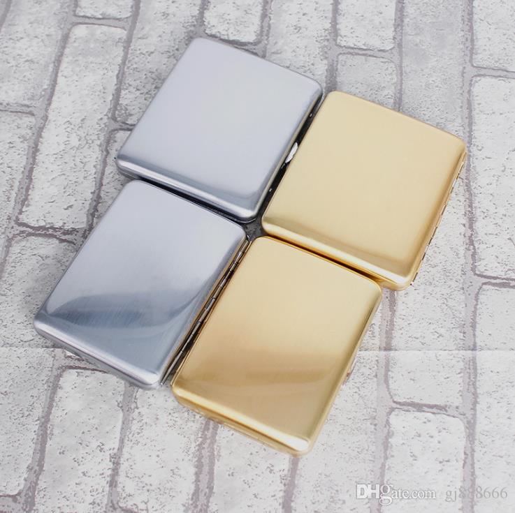 Ultradünne kreative Zigarettenschachtel, echte und edle Zigarettenschachtel aus Metall, reines Kupfer und vergoldetes Zigarettenset